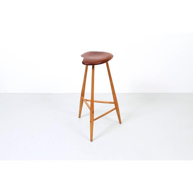 Arts & Crafts Barstool by Horace B. Hartshaw For Sale - Image 3 of 11