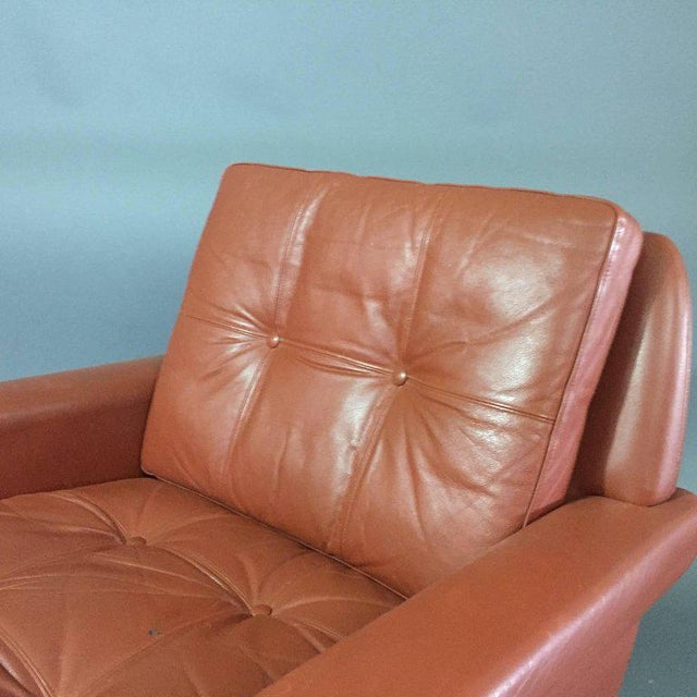 1960s Pair 1960s of Danish Leather Lounge Chairs For Sale - Image 5 of 8