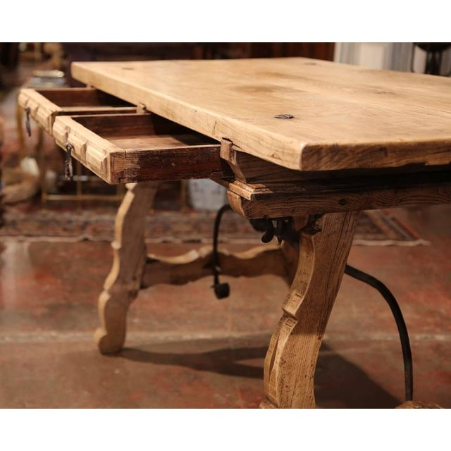19th Century Spanish Bleached Chestnut Table For Sale - Image 4 of 10