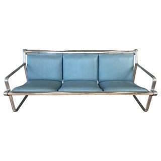 Hannah & Morrison for Knoll Aluminum Three-Seat Sling Sofa 'B', 1971 For Sale