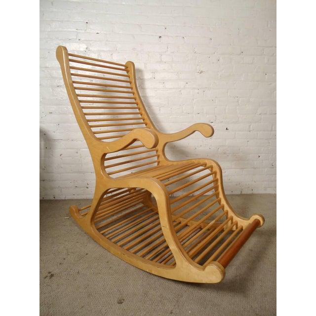 Wood Wood Rocking Chair For Sale - Image 7 of 7