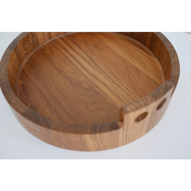 Danish Modern Teak Serving Tray by Birgit Krogh for Woodline - Image 3 of 6