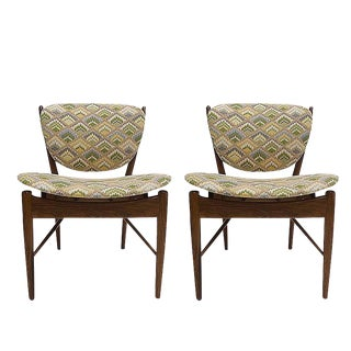 Pair of Finn Juhl Nv-51 for Baker Furniture Occasional, Desk or Dining Chairs For Sale
