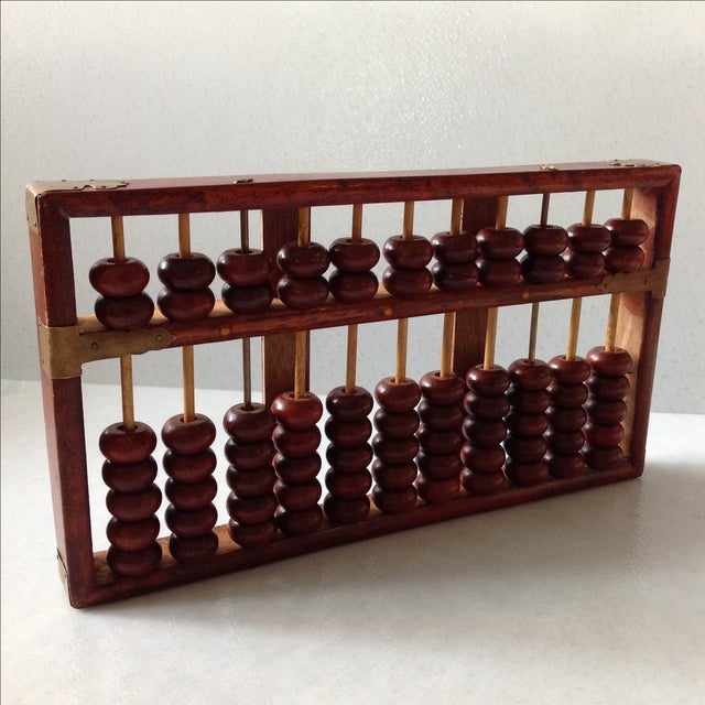 Vintage Asian Wood and Brass Abacus - Image 4 of 6