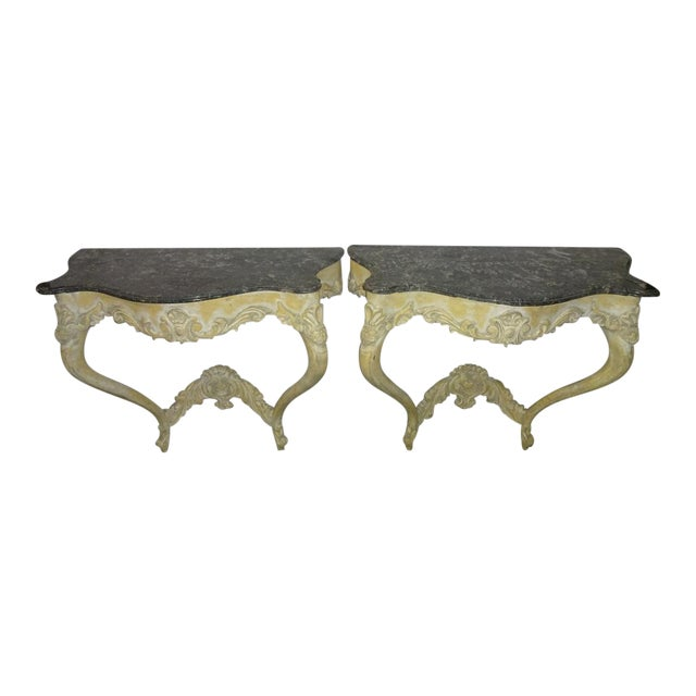 Italian Console Tables - A Pair - Image 1 of 10