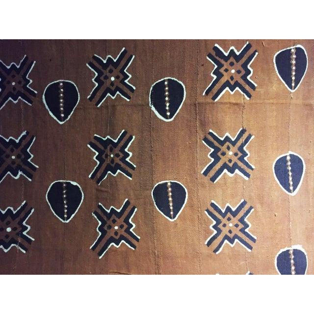 Black Bogolan Mali Mud Cloth Textile For Sale - Image 8 of 11