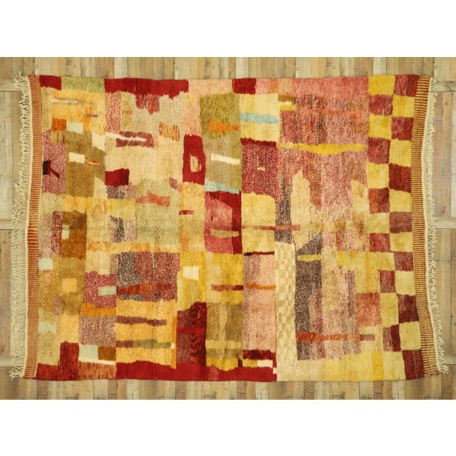 Red Moroccan Contemporary Rug - 08'11 X 11'10 For Sale - Image 8 of 10