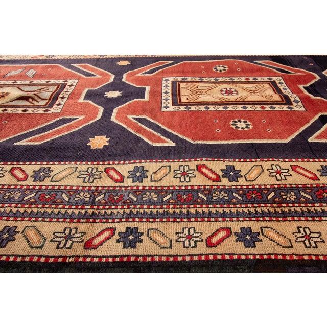 "Apadana - Vintage n.w. Persian Runner Rug, 4'6"" X 10'2"" For Sale In New York - Image 6 of 7"