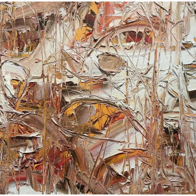 1960s Stanley Bate, Spring Thaw Painting, Circa 1960 For Sale - Image 5 of 6