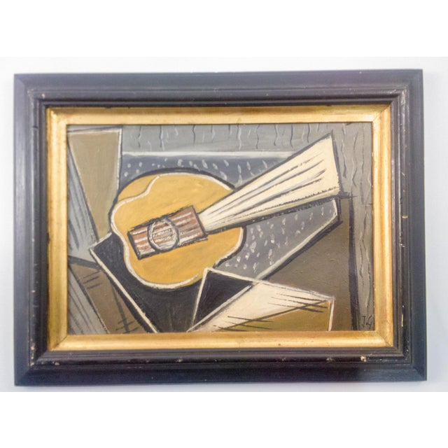 Cubist Portrait of Instrument Oil Painting For Sale In Atlanta - Image 6 of 6