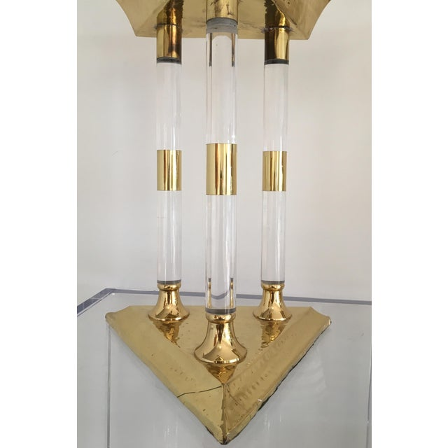 Italian Brass and Lucite Table Top Objets - a Pair For Sale - Image 10 of 13