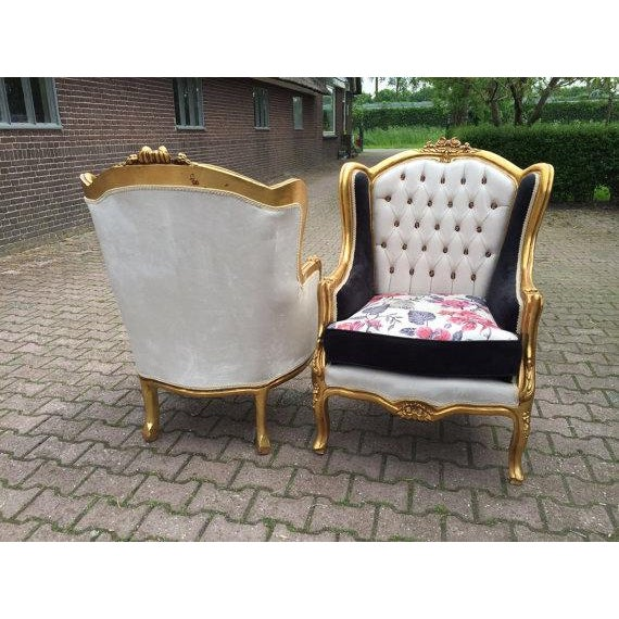 Louis XVI Style Chairs - A Pair - Image 5 of 6