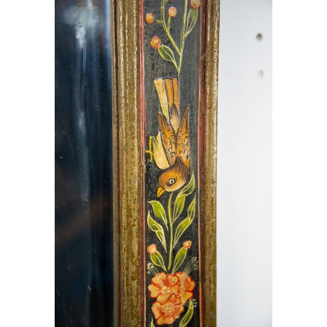 1930s Victorian Style Hand Painted Wall Mirror For Sale - Image 5 of 9