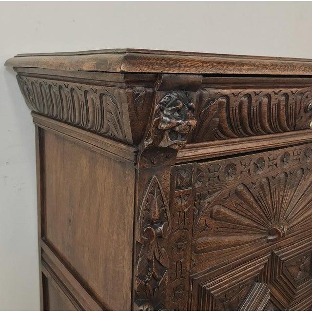 19th Century Flemish Renaissance Cabinet For Sale - Image 11 of 13