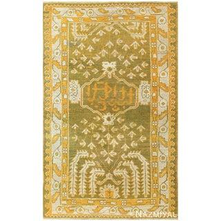 Antique Turkish Oushak Carpet - 3′6″ × 5′6″ For Sale