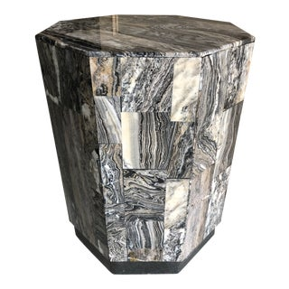 Tessellated Marble Pedestal Table For Sale