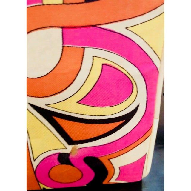 Abstract 1960s Vintage Emilio Pucci Silk and Leather Purse For Sale - Image 3 of 6