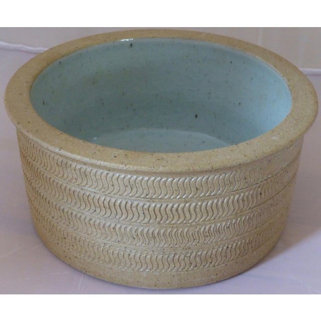 Brown Mid Century Dansk Pottery Bowl by Niels Refsgaard For Sale - Image 8 of 13