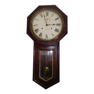 Early 19th Century Seth Thomas Clock Company Wall Clock For Sale