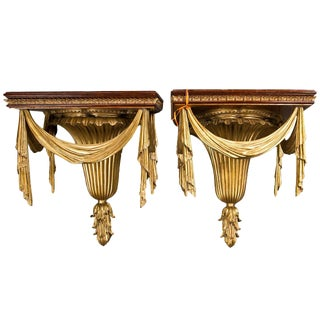 Pair of Neoclassical Style Wall Brackets For Sale