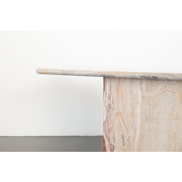 Late 20th Century Marble Console Table For Sale - Image 4 of 7