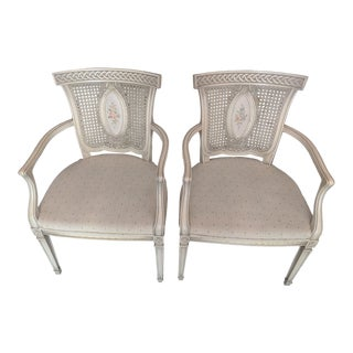 1960s Vintage French Provincial Accent Chairs- A Pair For Sale