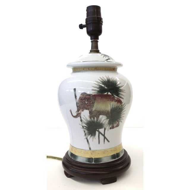 Safari Style Porcelain Elephant Lamp - Image 2 of 10