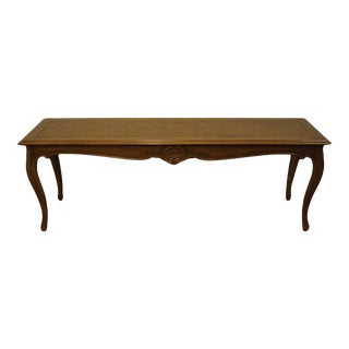 """Vintage Antique Louis XVI French Provincial Solid Walnut 72"""" Accent Sofa Table For Sale"""