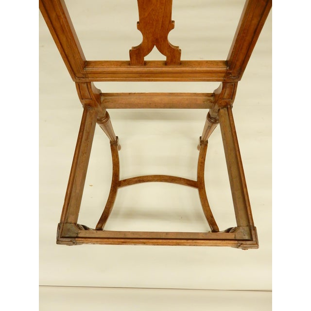 19th C. Louis XVI Walnut Dining Chairs - Set of 8 For Sale In New Orleans - Image 6 of 9