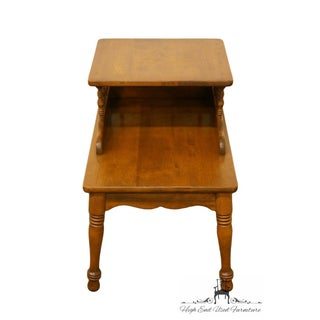 Late 20th Century Vintage Ethan Allen Heirloom Nutmeg Maple Step End Table Preview