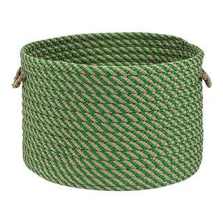 "Cabana Basket Leaf Green 15""x15""x12"" Storage Basket"