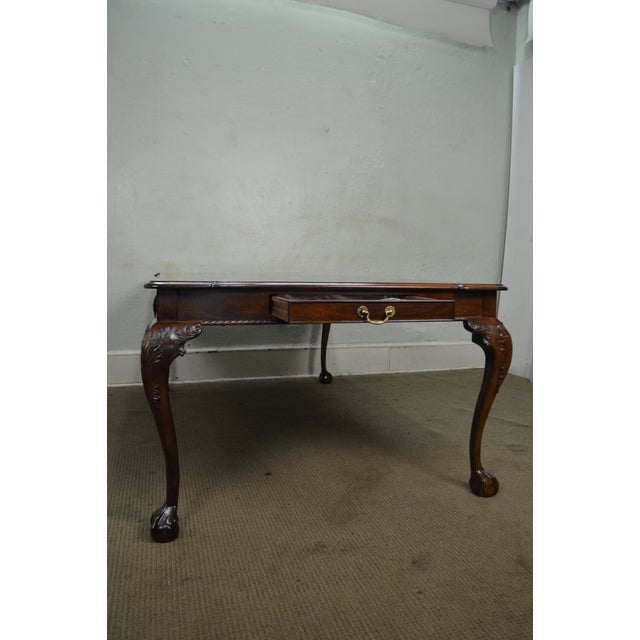 Henredon Rittenhouse Square Mahogany Clawfoot Chippendale Style Dining Table For Sale In Philadelphia - Image 6 of 10
