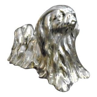 1980s Sterling Pekinese Figure For Sale