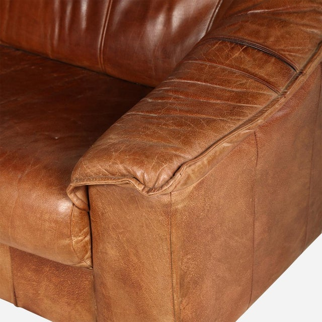 Early 19th Century De Sede Brown Sofa For Sale - Image 5 of 6