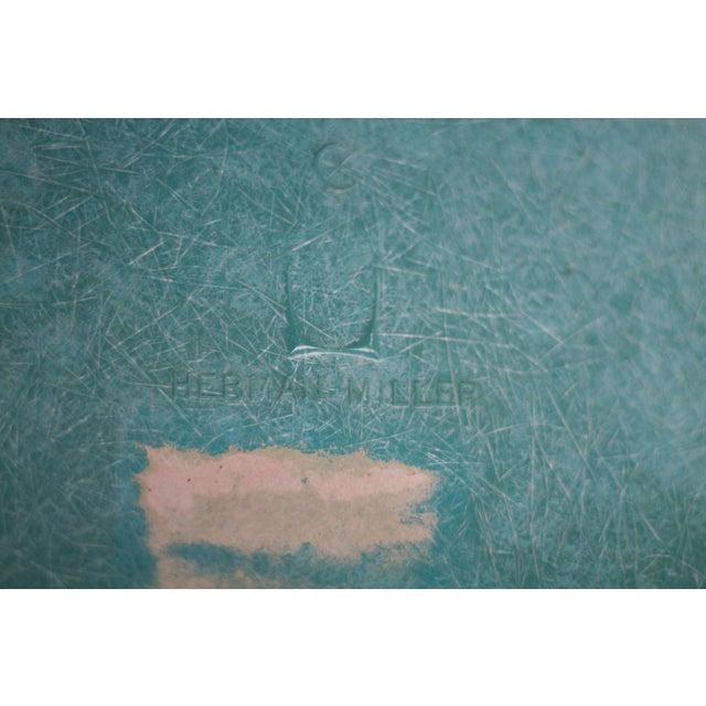 Turquoise Herman Miller Fiberglass Eames Shell Chair - Image 9 of 9