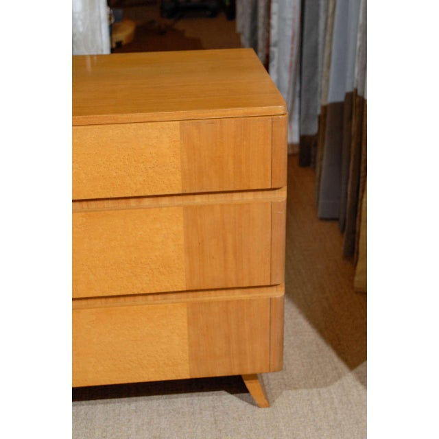 RWAY Gorgeous Rway Six-Drawer Chest in Blonde Mahogany and Bird's-Eye Maple For Sale - Image 4 of 11