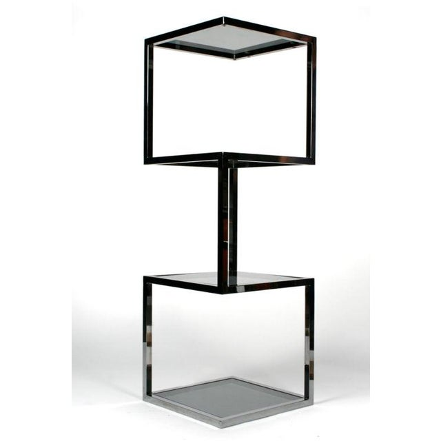 Mid-Century Modern Asymmetrical Stacked Cubes Etagere after Milo Baughman - Set of 3 For Sale - Image 3 of 7