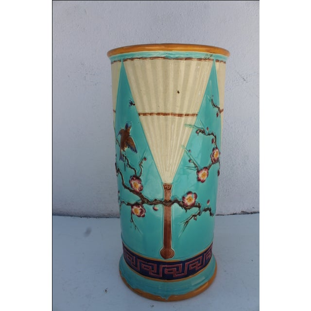 Vintage Hand Painted Ceramic Umbrella Stand - Image 2 of 8