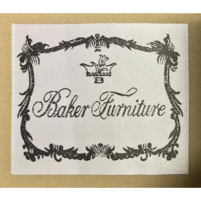 Baker Roll Arm Sofa in Cut Velvet For Sale - Image 12 of 13