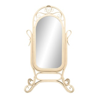 Bentwood Thonet Cheval Mirror For Sale