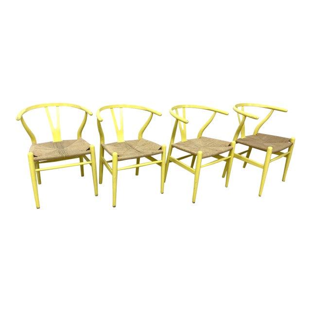 Hans Wegner Wishbone Chairs - Set of 4 For Sale
