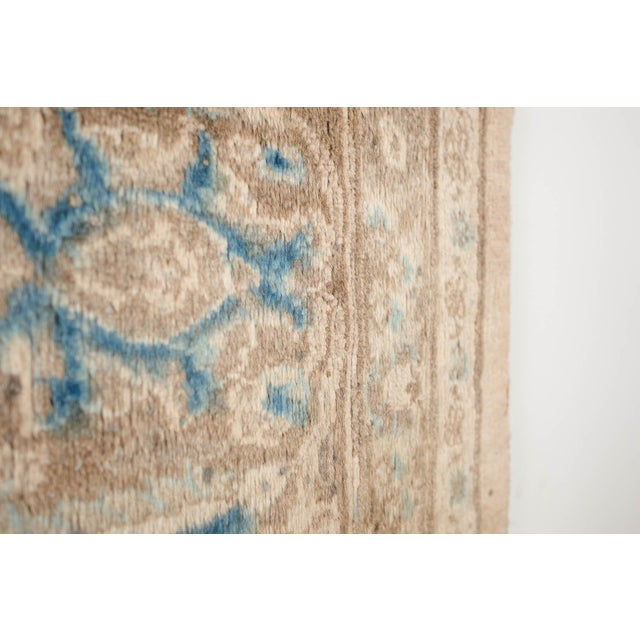 Persian Cream & Blue Rug - 9′8″ × 12′6″ For Sale - Image 9 of 10