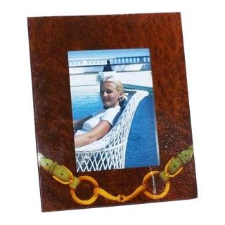 Wooden Horsebit Gucci Picture Frame, C. 1960