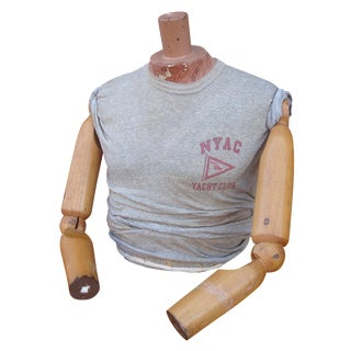 Antique Man's Dress Form Torso Mannequin