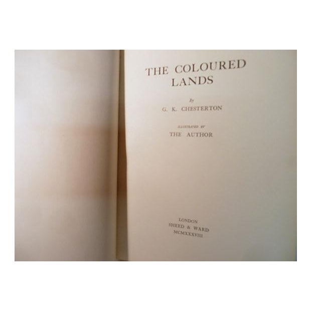 "Contemporary ""The Coloured Lands"" 1938 Book By G. K. Chesterton For Sale - Image 3 of 6"