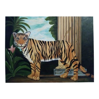 William Skilling Tiger Oil Painting on Canvas