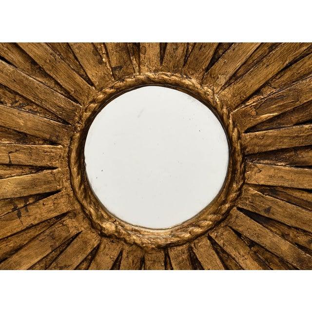 1960s Vintage Spanish Sunburst Mirror For Sale - Image 5 of 10