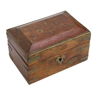Petite Metal Strap Colonial Box