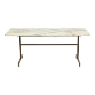 Elegant Bronze and Marble Side Table