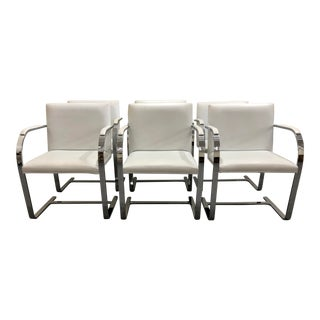 Mies Van Der Rohe Brno Style Chairs by Gordon International, Inc - Set of 6 For Sale